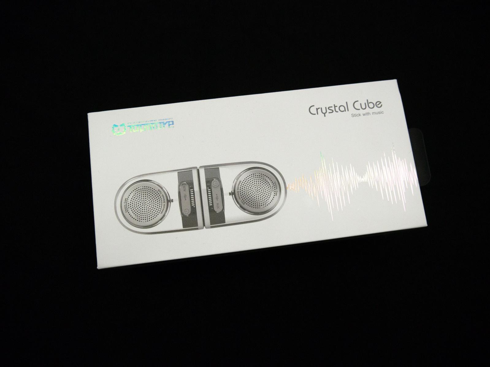 轻巧高音质,Crystal Cube随行磁吸蓝牙喇叭发布