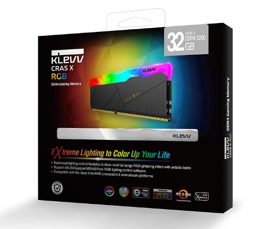 KLEVV科赋CRAS X水晶切割RGB灯条即将上市